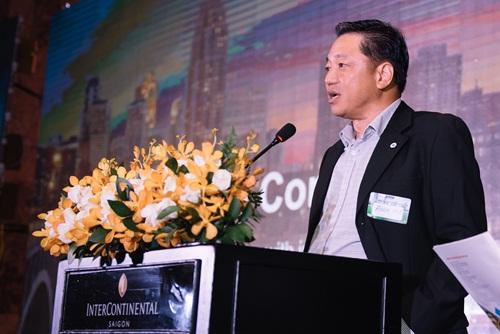 Ông Eu Boon Hoe - CEO phân phối, phát triển sản phẩm ở khu vực châu Á của Johnson Controls - phát biểu tại sự kiện. Johnson Controls ra mắt YZ chiller